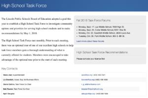 High School Task Force Website