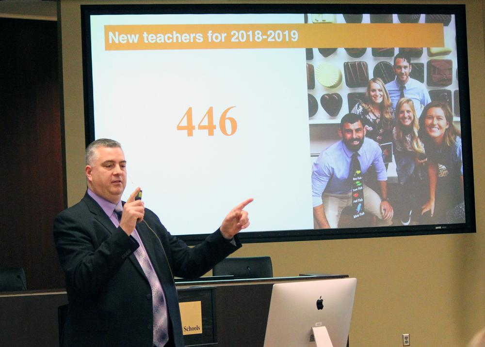 Eric Weber, LPS associate superintendent for human resources presents for december's learning lunch