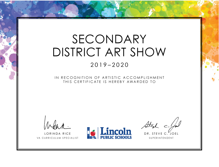 Secondary District Art Show