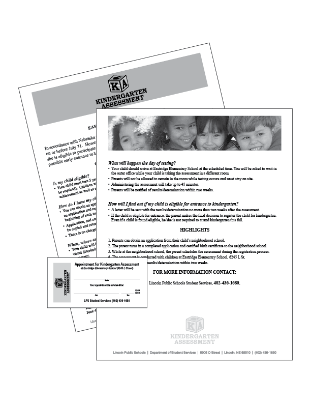 Kindergarten Assessment Flier