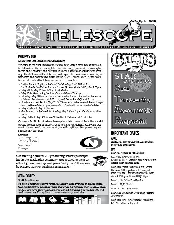 North Star Telescope Newsletter