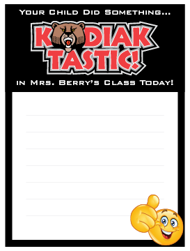 Kosher Elementary Notepad