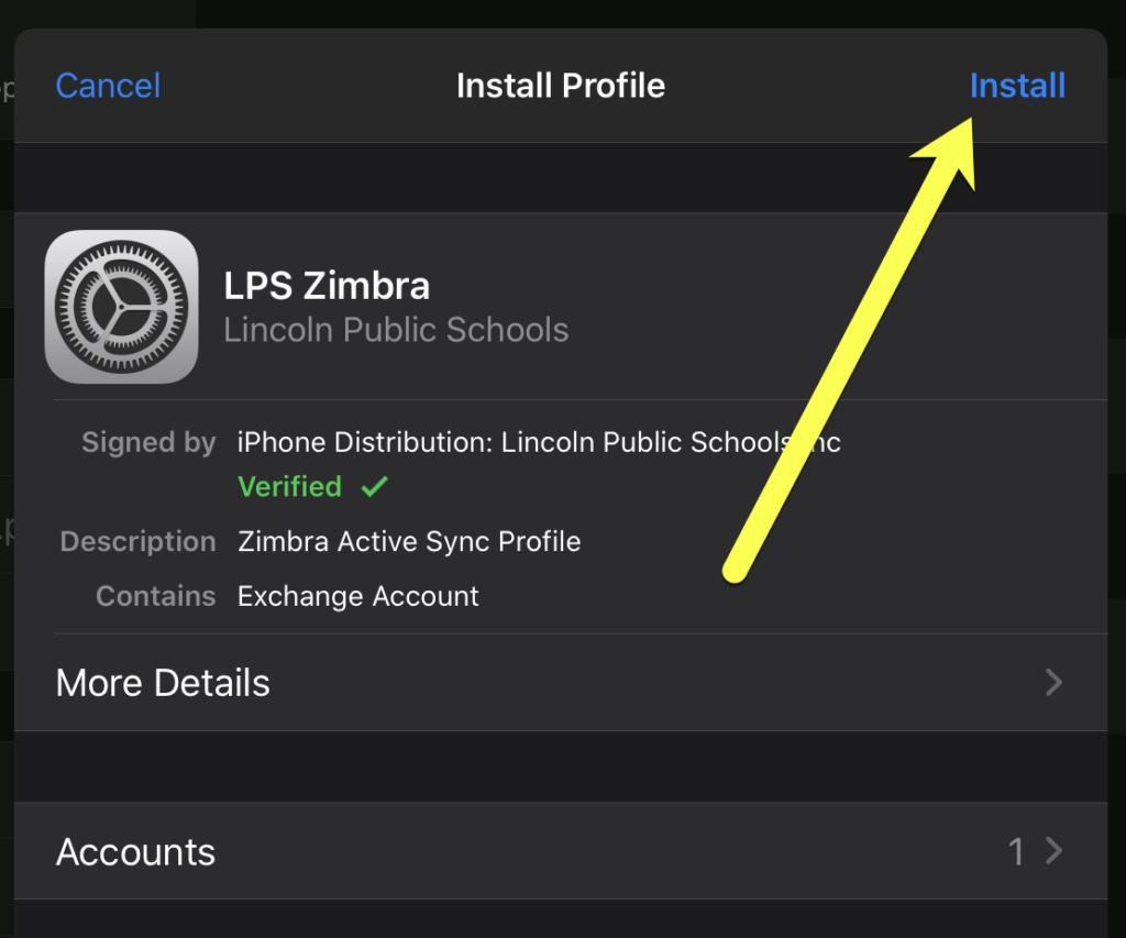 iOS Install Profile
