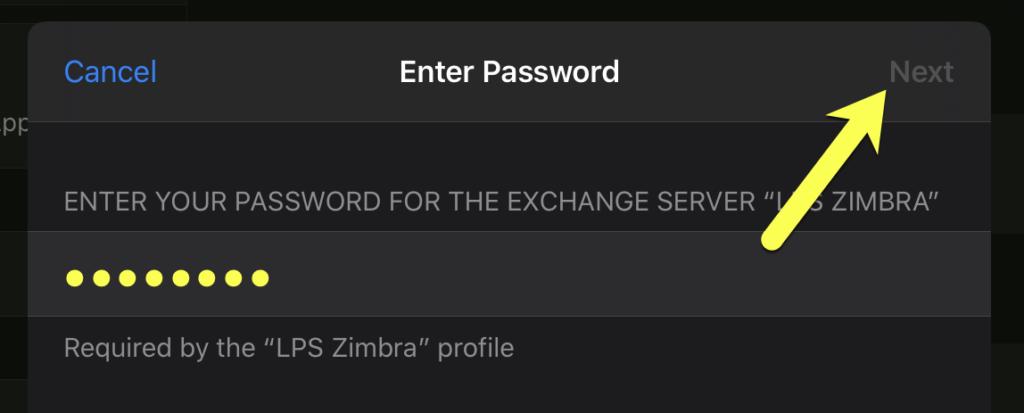 Enter your LPS password