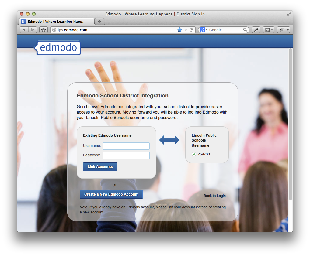 how to change username on edmodo