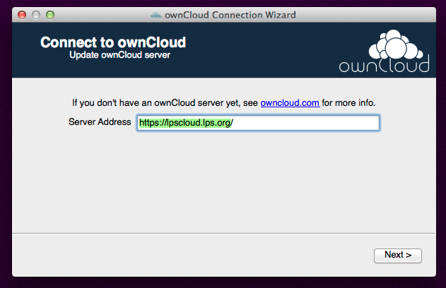 Owncloud client connection refused yahoo
