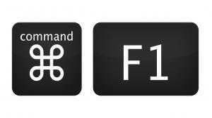 command + F1