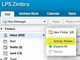 Zimbra-Activity-Stream