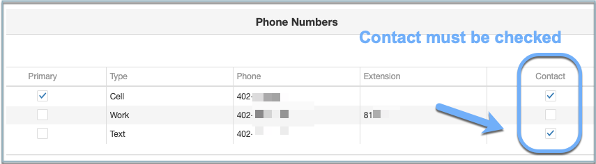 Image of ParentVUE phone contacts