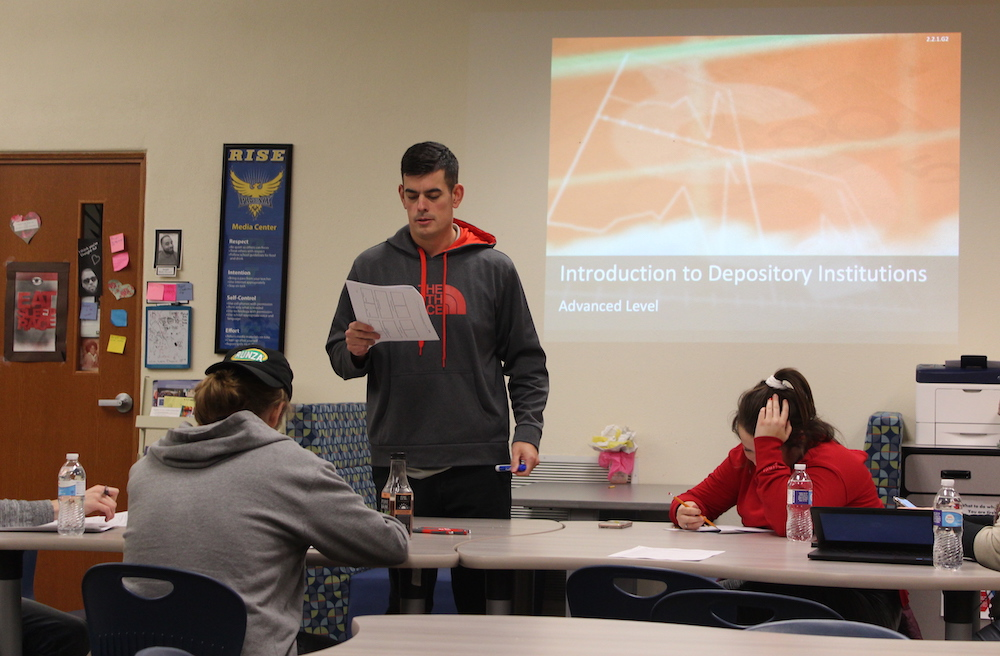 Photo of student presenting in a Graduation Pathways class