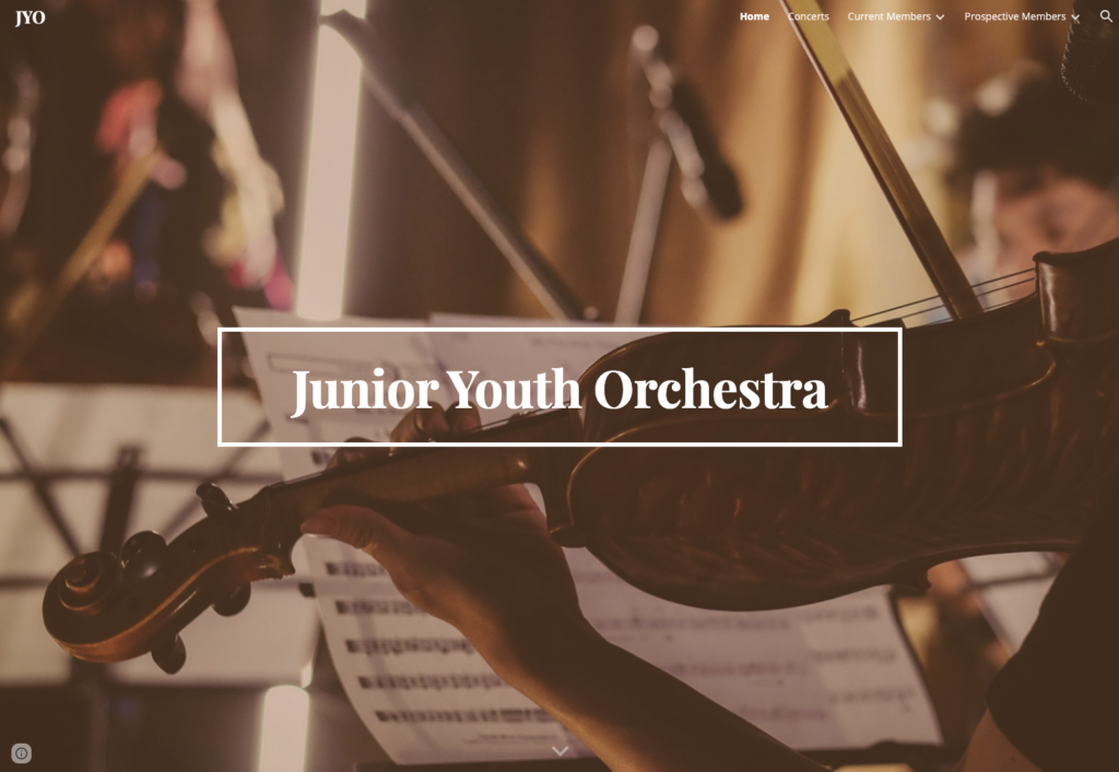 Junior Youth Orchestra Website Link