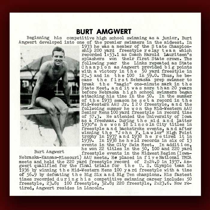 Burt Amgwert bio
