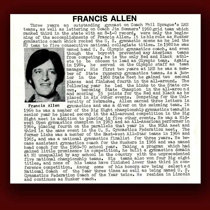 Francis Allen bio