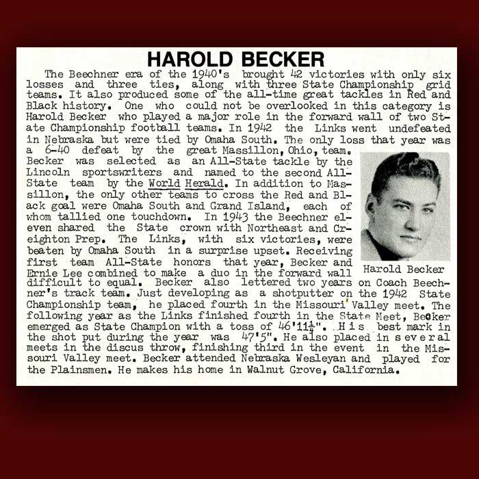 Harold Becker bio