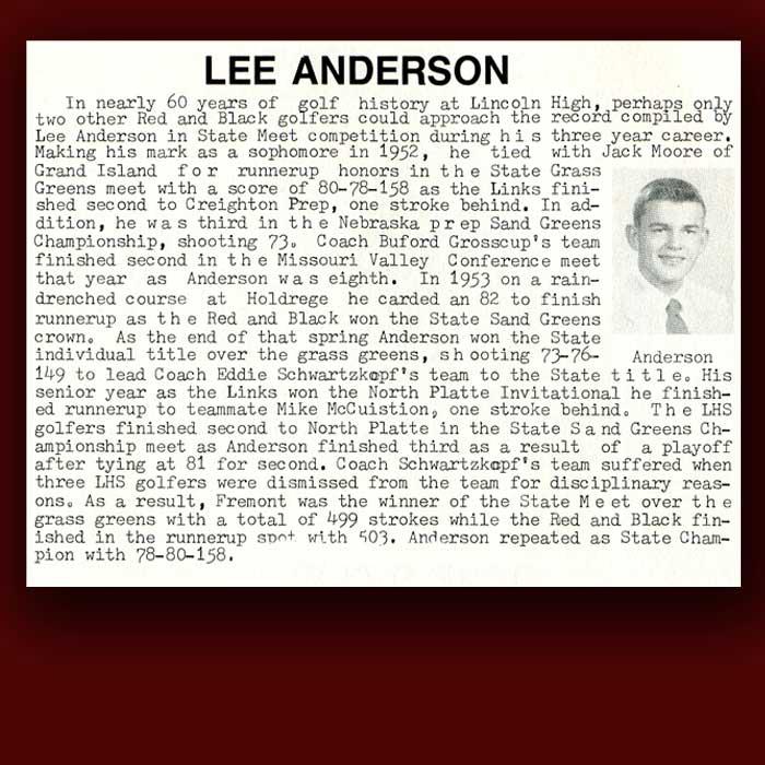 Lee Anderson bio