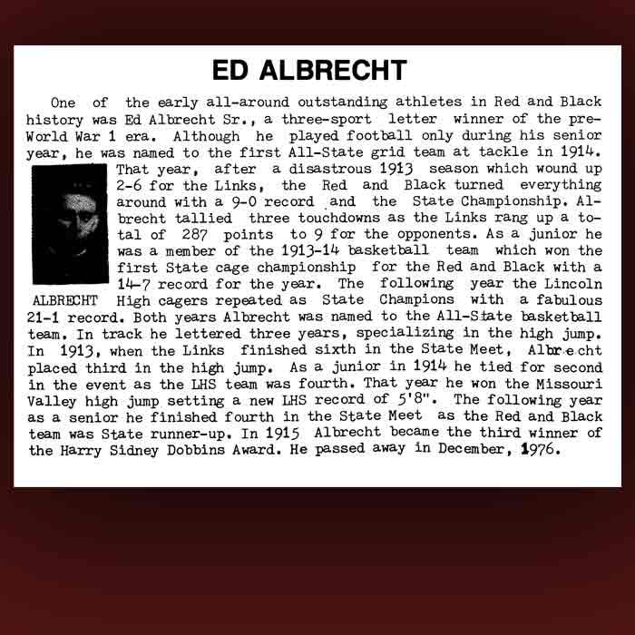 Ed Albrecht bio