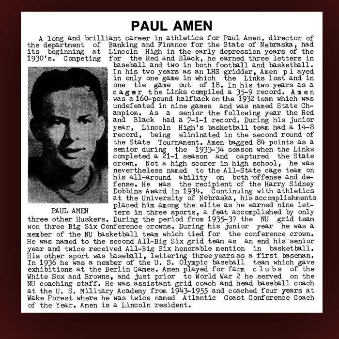 Paul Amen bio