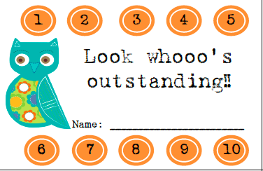 Look whooo's outstanding punch card