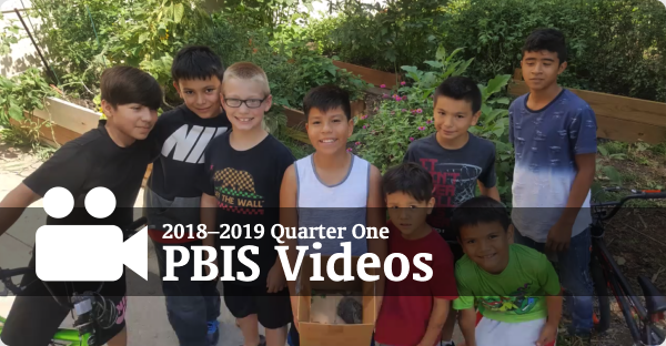 Photo of group of children linking to 2018-2019 Quarter 1 PBIS Videos