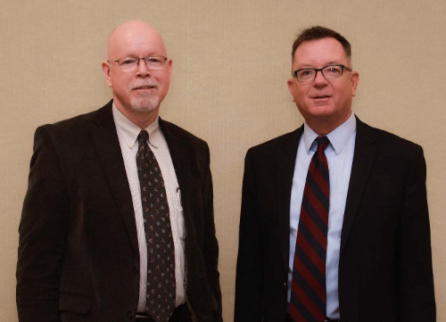 Photo of Jon Sundermeier, LPS Security Coordinator, and Joe Wright, LPS Director of Security