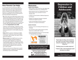 Depression in Children Adolescents