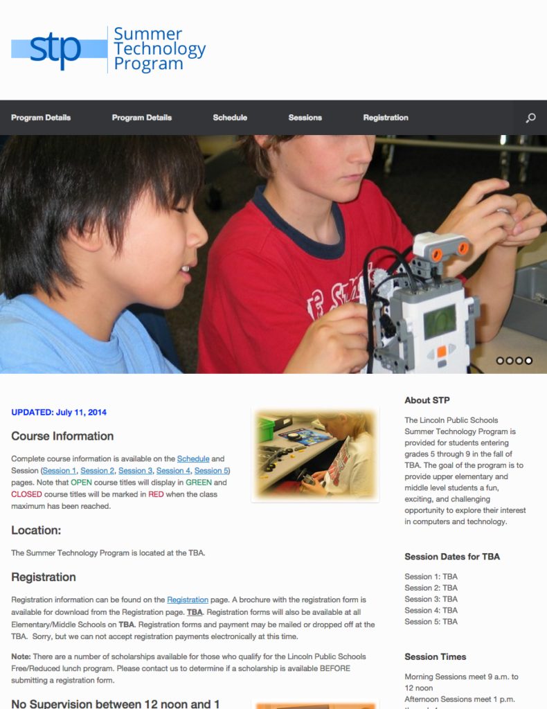 Summer Technology Program