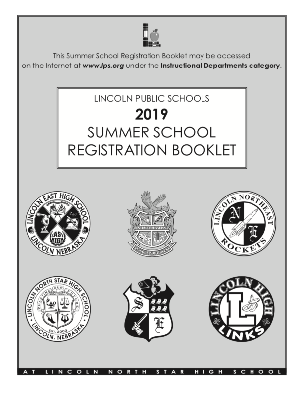 Cover of the 2019 Summer School Registration Booklet